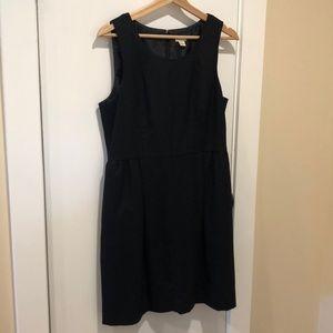 J Crew Factory Black Wool Dress